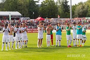 Am Ende gewann der SVW mit 2:0 n.V. Ujah (102.) und Bartels (108.) erzielten die spielentscheidenen Treffer.