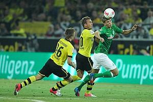 Der kurz zuvor eingewechselte Mario Götze traf zum 2:1-Siegtreffer (81.) - Werder fuhr zum Auftakt der Saison 2012/2013 ohne Punkte nach Hause (Archivfoto: nordphoto).