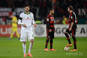 Februar: Florian Grillitsch ist einer der Torschützen beim sensationellen 3:1-Sieg im Viertelfinale des DFB-Pokals bei Bayer Leverkusen (Foto: nordphoto).