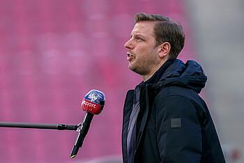 Florian Kohfeldt im Sky-Interview vor dem Bundesliga-Spiel 1. FC Köln gegen Werder Bremen.