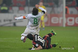 516 Mal foulten Werders Gegner. Am meisten musste dabei Clemens Fritz einstecken. Werders Kapitän wurde 79 Mal irregulär gestoppt und damit am dritthäufigsten in der Liga.