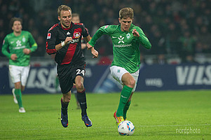28. Januar 2012: Niclas Füllkrug kommt zu seinem ersten Bundesliga-Einsatz. Im Spiel gegen Bayer 04 Leverkusen wurde der Werderaner in der 63. Minute eingewechselt.