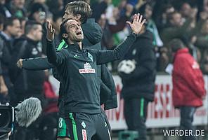 Am Wochenende siegte Werder zum 750. Mal in der Bundesliga. WERDER.DE blickt noch einmal auf besondere Erfolge und die schönsten Jubel der Historie zurück (Foto: nordpoto).