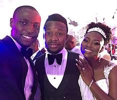 Anthony Ujah war Gast auf der Hochzeit seines guten Freundes Ogenyi Onazi, der bei Lazio Rom unter Vertrag steht (Foto: Instagram/ujah21).