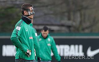 Leih-Keeper Koen Casteels kennt sich aus mit Gesichtsverletzungen und Masken. Nach seinem leichten Bruch der Nase Anfang 2015 ließ der Belgier sich die Maske von seinem Vater zuschicken, drei Jahre zuvor hatte er sich diese für eine ähnliche Verletzung anfertigen lassen.