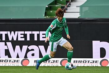 Yuya Osako erzielte in der letzten Pokalrunde gegen SSV Jahn Regensburg den goldenen Treffer.