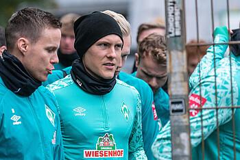Ludwig Augustinsson auf dem Weg zum Teamtraining.