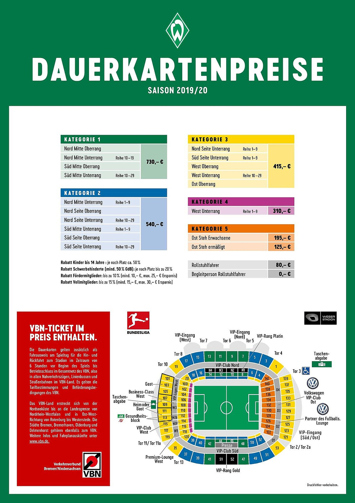 Werder De Tickets