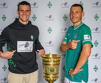 Werder läuft im Pokal mit einem besonderen Ärmelpartner auf