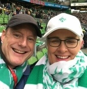 Katja Ittermann im Stadion
