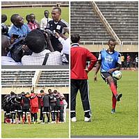 Melvyn Lorenzen trainierte in den letzten Tagen mit der Auswahl Ugandas und steht vor seinem Debüt als Nationalspieler (Foto: Instagram/mellorenzen).