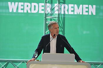 Frank Baumann auf der Mitgliederversammlung