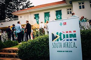 #MoinSouthAfrica: Der Botschaftsempfang war einer von zahlreichen öffentlichkeitswirksamen Terminen, die Werder im Rahmen des Trainingslagers an der Südspitze des afrikanischen Kontinents veranstaltete.