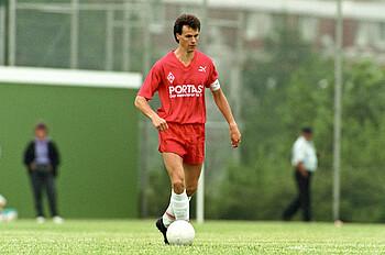 Rune Bratseth 1991 im Werder-Trikot.