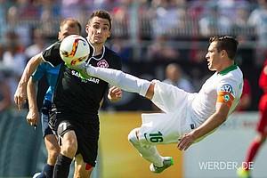 Gegen die Würzburger Kickers taten sich Junuzovic und Co. ziemlich schwer. Torlos ging es in die Verlängerung.
