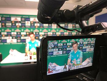 Marco Friedl vom SV Werder Bremen zu Gast im virtuellen Mediengespräch