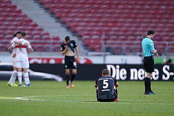 Ludwig Augustinsson beim Spiel gegen den VfB Stuttgart