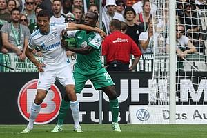 Auch der Nigerianer Anthony Ujah kam gegen die Königsblauen zu seinem ersten Einsatz für die Grün-Weißen (Foto: nordphoto).