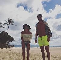Anfang Juni noch geheiratet, verbringen die Garcias ihre Flitterwochen auf Hawaii (Foto: Instagram/sangarcia28).
