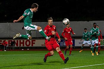 Keanu Schneider erzielte gegen den FC Oberneuland das 4:0 für die U23 des SV Werder Bremen