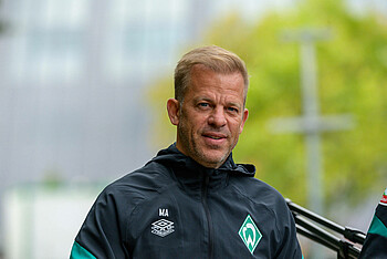 Markus Anfang at the training ground.