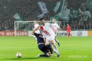 Im neuen Event-Trikot besiegten die Bremer den 1. FC Köln mit 1:0.