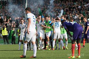 August: Das erste Pflichtspiel verliert Werder im DFB-Pokal in Lotte, in die Bundesligasaison starten die Grün-Weißen mit vier Niederlagen am Stück (Foto: nordphoto).
