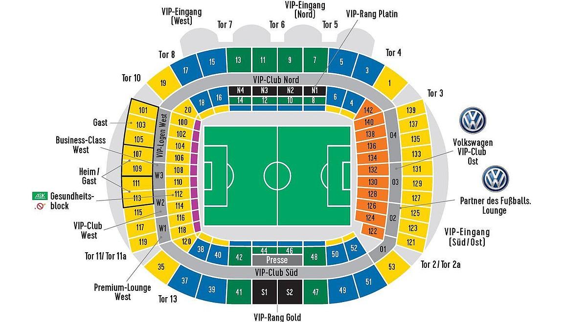 Werder Stadionplan