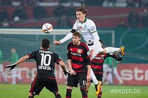 In Leverkusen lag Werder nach guter Anfangsphase wie schon in Gladbach mit 0:1 zurück.