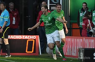 Das erste Bundesliga-Tor erzielte er im Spiel gegen den FC Augsburg zum zwischenzeitlichen 1:0 (Endstand 1:1).