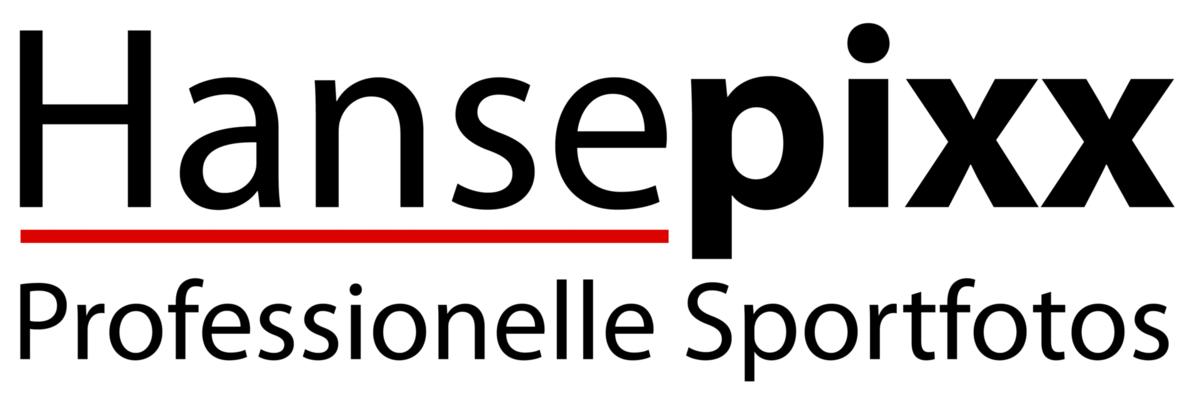 Das Logo von hansepixx Sportfotos.