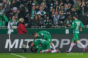 Oktober: In Nouris erstem Spiel als Chefcoach geht der Stern eines anderen Werderaners auf. Der 19-jährige Ousman Manneh erzielt gegen Leverkusen sein erstes Bundesligator (Foto: nordphoto).