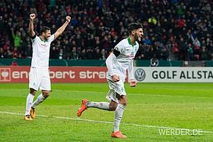 Santiago Garcia, Claudio Pizarro per Foulelfmeter und Tor-Debütant Florian Grillitsch drehten die Partie jedoch und schossen Werder ins Halbfinale.