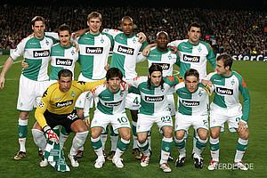 2005/06 spielte Werder noch in orangfarbenen Trikots. Zur Saison 06/07 kehrte der Vizemeister zu den traditionellen grün-weißen Farben zurück (Foto: nordphoto).