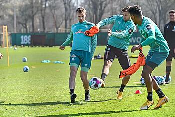 Christian Groß und Niclas Füllkrug im Training.