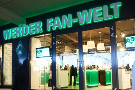 Werder Bremen Fanshop öffnungszeiten