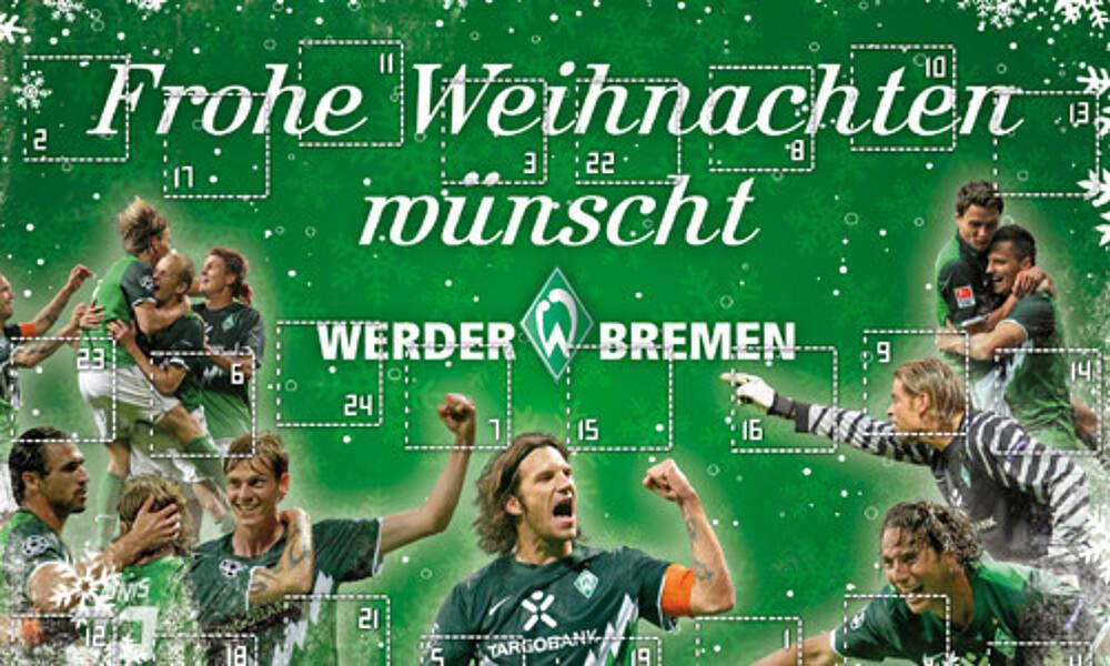 Frohe Weihnachten Werder Bremen.Interaktiver Adventskalender Fur Fans Auf Werder De Sv